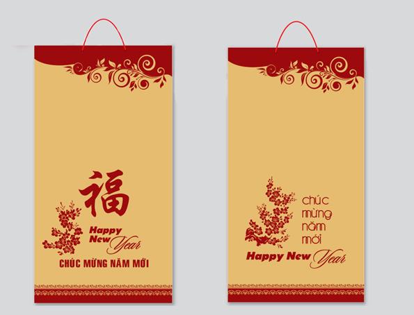 Kết quả hình ảnh cho làm túi giấy đựng quà tết